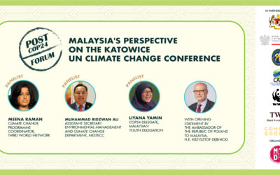 Post-COP24 Forum: Malaysia's Perspective on the Katowice UN Climate Change Conference