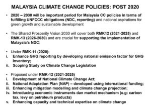 Study Session #1 – UNFCCC 101: Paris Agreement and its relevance to Malaysia