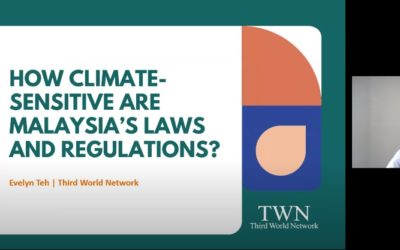 Study Session #3 – How Climate-Sensitive are Malaysia's Laws and Regulations?